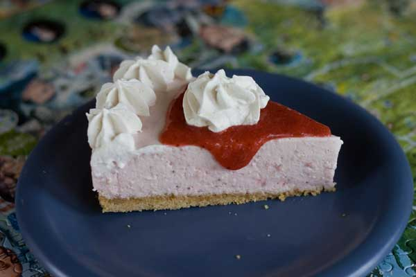 Smooth Strawberry Cheesecake