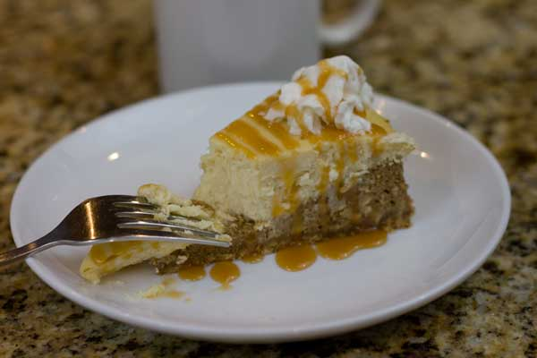 Coffeehouse Caramel Macchiato Cheesecake - Cookie Madness
