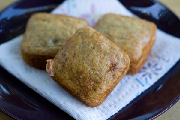 Low Fat Mini Banana Bread Squares Cookie Madness