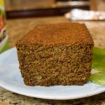 banana bran bread cut