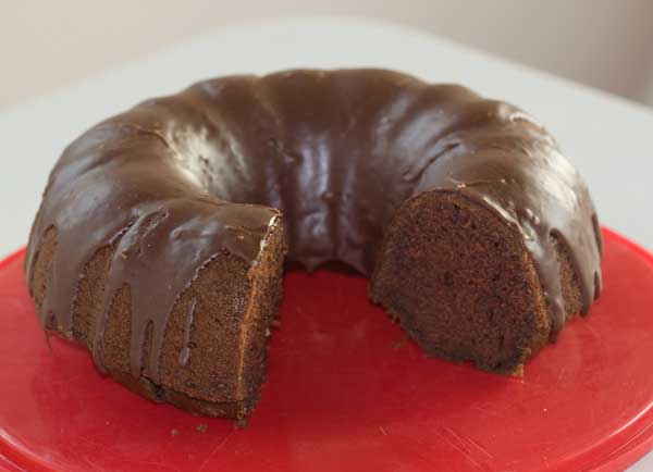 Chocolate 'Tato Cake chocolate glaze