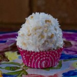 white mountain coconut cupcake