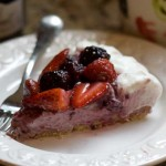 triple berry mousse tart
