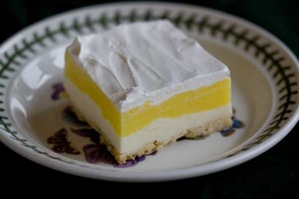 Lemon Lush from All Recipes Magazine