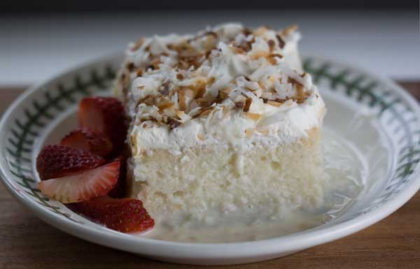 Coconut Tres Leches Cake with Mexican Vanilla