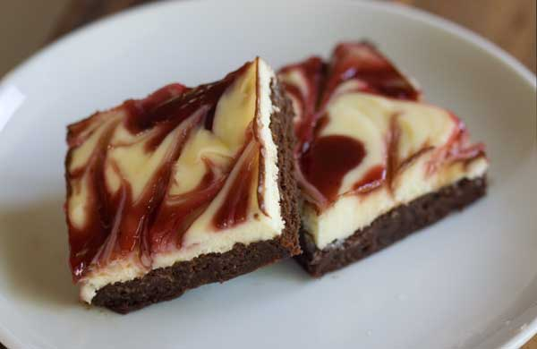 White Chocolate Raspberry Cheesecake Brownies - Cookie Madness