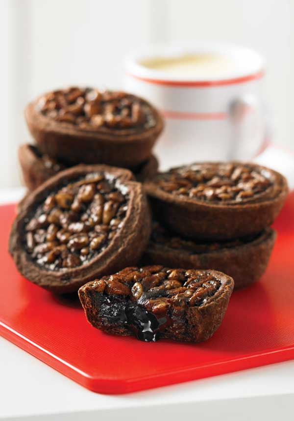 Chocolate Mocha Pecan Tarts from 175 Best Mini Pie Recipes: Sweet to ...