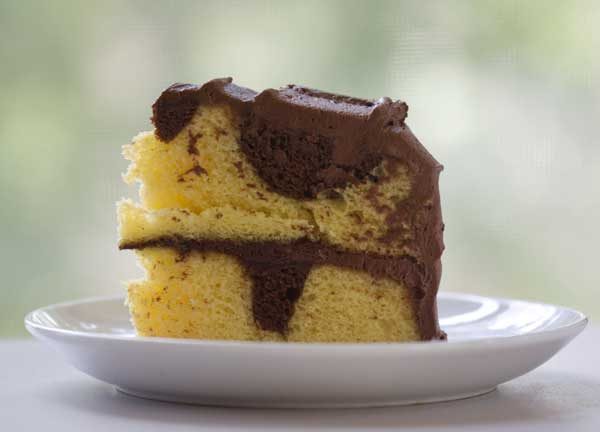 Enhanced Cake Mix Marble Cake