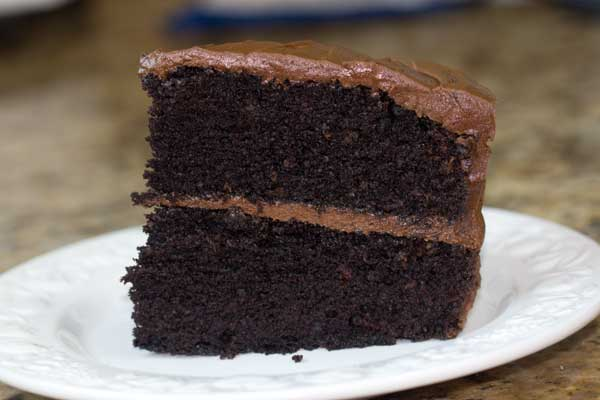 Chocolate Mayonnaise Cake with Sour Cream Frosting