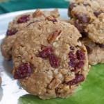 Whole Grain Vegan Baking Cherry Pecan Cookies