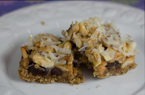cashew seven layer bars without condensed milk