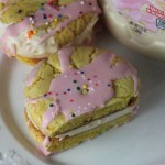 lemon ice cream sandwich cookie