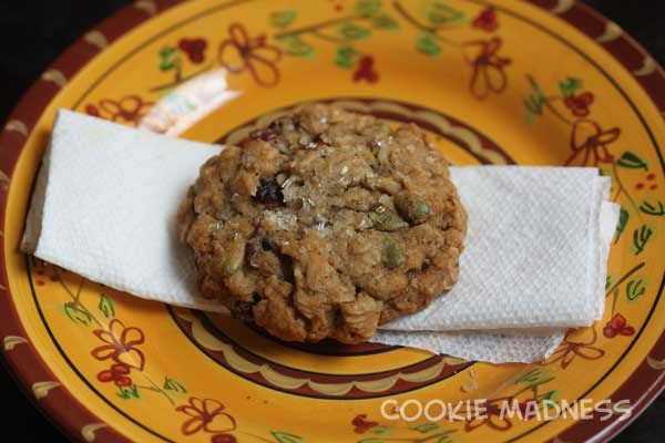 Cranberry Pepita Pecan Maple Oatmeal Cookies