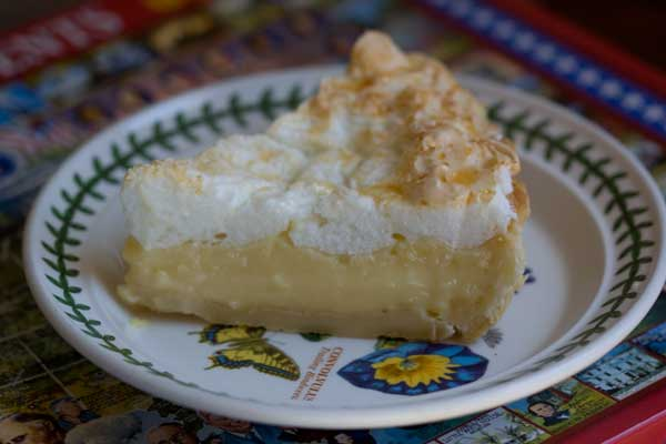 Creamy Lemon Meringe Pie Made with Milk