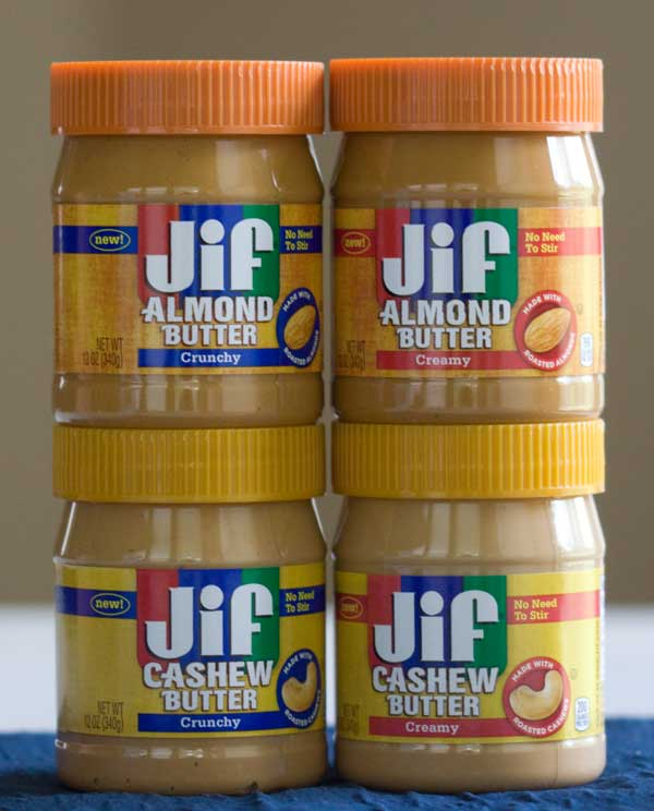 Jif Almond Butter and Cashew Butter Giveaway