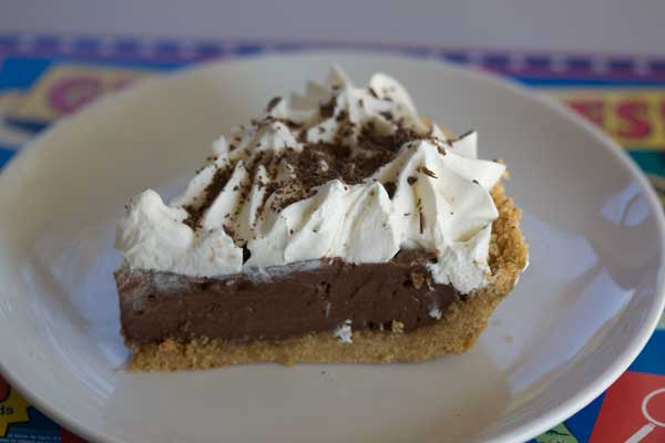 Chocolate Cream Pie with a No-Bake Graham Crust