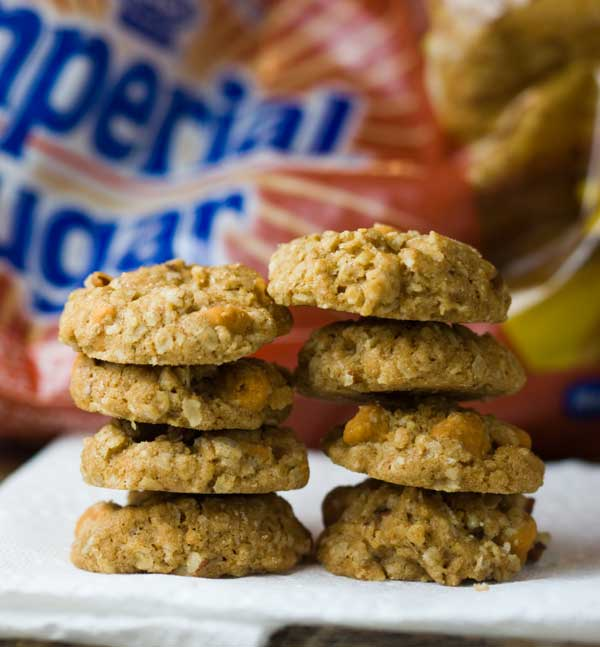 Crunchy Miniature Butterscotch Oat Cookies
