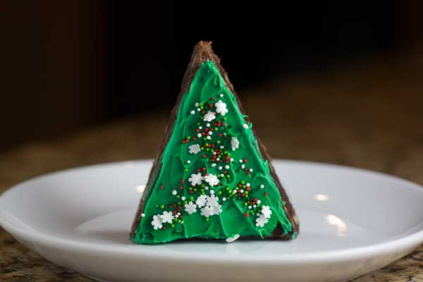 Christmas Tree Brownies And Cookies On Sticks More Celebrations