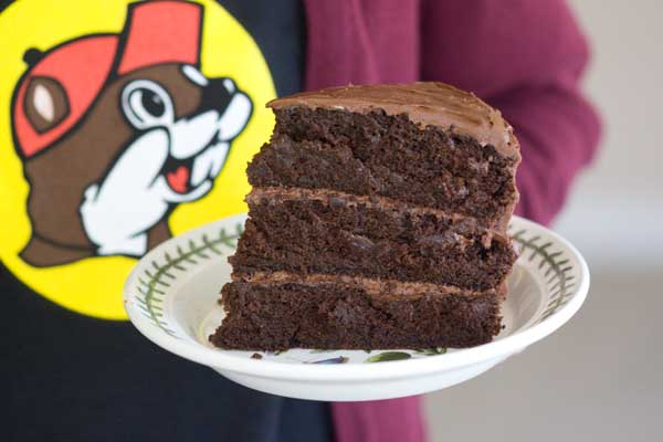 Three Layer Chocolate Cake With Frosting