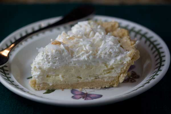 Coconut Cream Pie with Half & Half