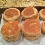 English Muffins with Bran Cereal