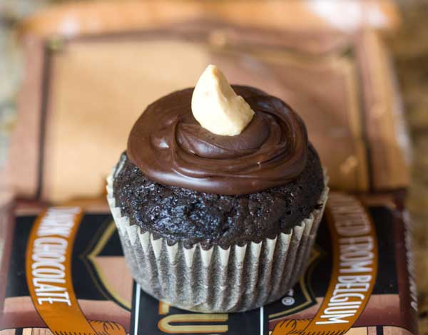 Peanut  Butter Filled Cupcake