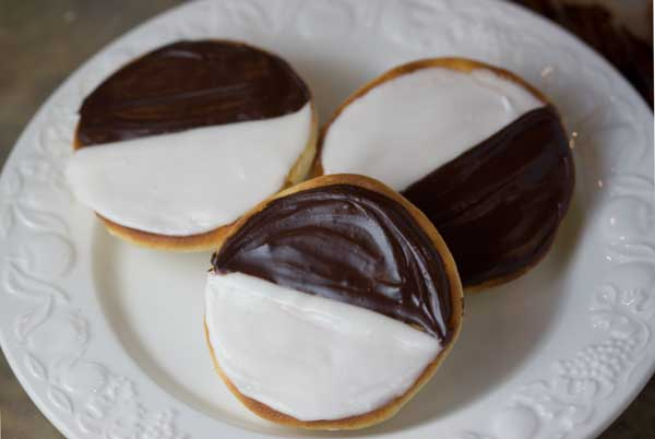 Black and White Cookies Inspired by Zabar's