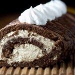 Chocolate Cake Roll With Cappuccino Cream