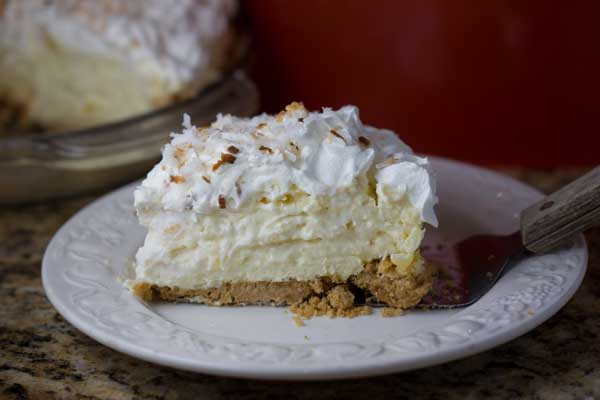 Coconut Cream and Pineapple Pie