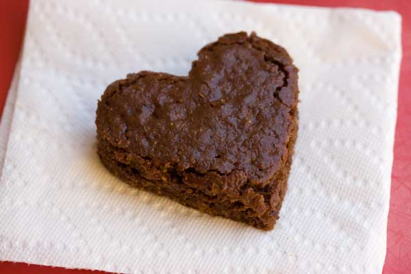 Heart Shaped Chocolate Bran Breakfast Cake