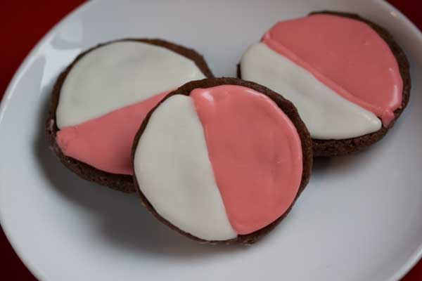 Chocolate Sugar Cookie Pink and Whites