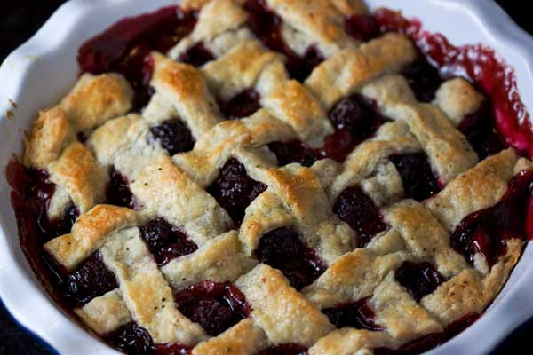 Blackberry Cobbler With Butter Pastry
