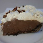 Irish Cream Topped Chocolate Cream Pie