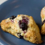 Freeze and Bake Yeasted Blueberry Scones