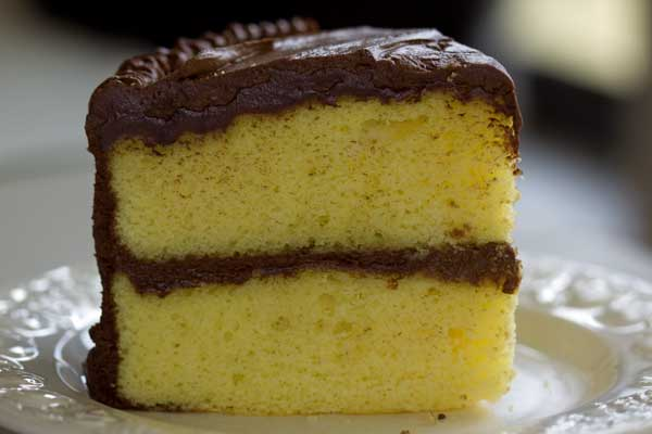 Yellow Cake With Chocolate Frosting Recipe — Dishmaps