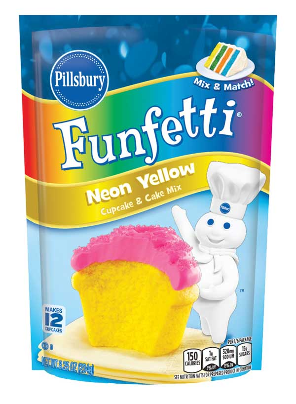 Pillsbury Neon Yellow Pouch Cake Mix