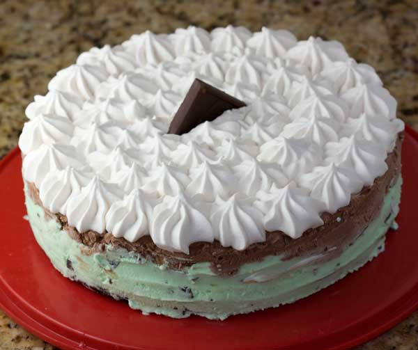 Frozen Brownie Mint Pie