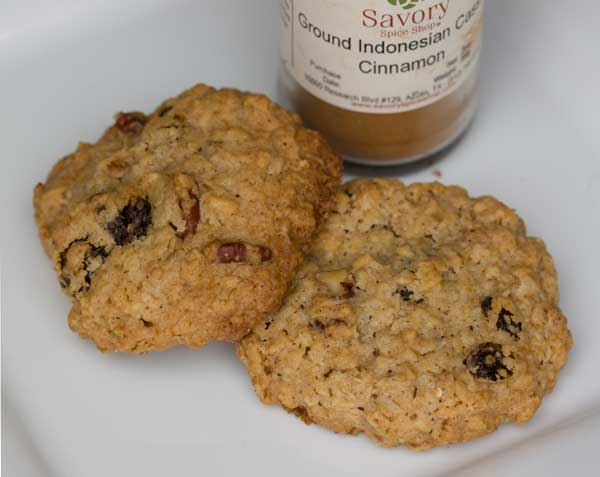 Oatmeal Raisin Cookies with Indonesian Cinnamon