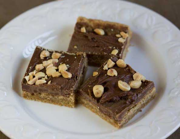 Chocolate-Topped Peanut-Toffee Bars Recipes — Dishmaps