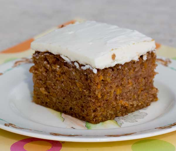 Carrot Cake Baked in an 8×12 Inch Glass Dish