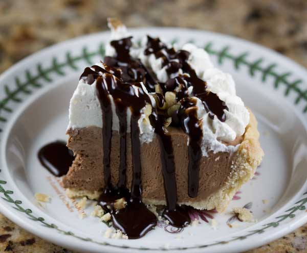 Chocolate Mallow Malt Pie