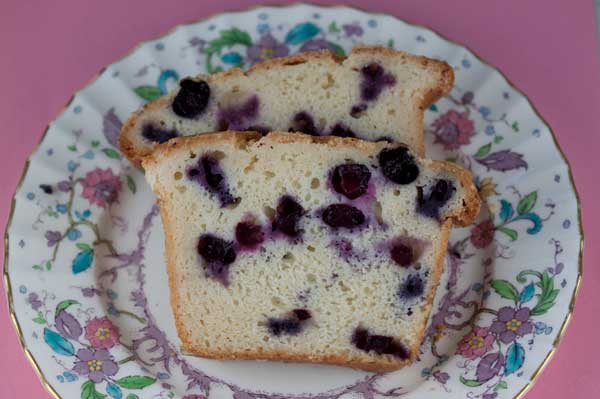 Blueberry Sour Cream Loaf Cake