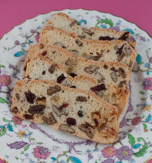 Biscotti Thins with Cranberries and Pecans