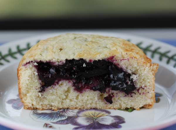 Basque Cake with Blueberry