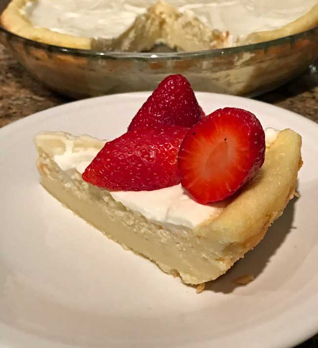 Impossible Cheesecake Pie