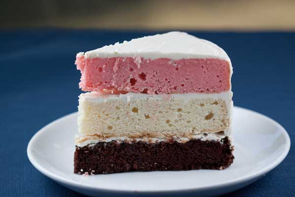 Three Layer Strawberry Cake From Scratch