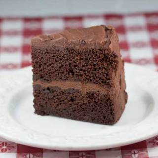 Chocolate Layer Cake With Chocolate Icing