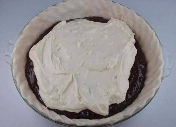 Cream Cheese Brownie Pie Batter
