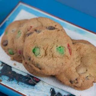 Dark Chocolate M&Ms Cookies