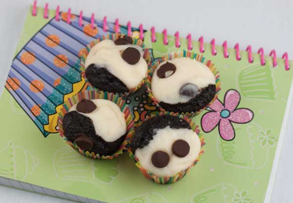 mini black bottom cupcakes